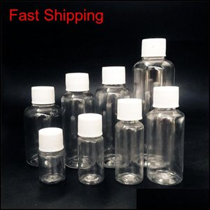 5Ml 10Ml 20Ml 30Ml 50Ml 60Ml 80Ml 100Ml Clear Plastic Empty Bottles Small Containers Bottles With Screw Cap For Liquids Qdwt6 Uqsm3