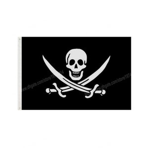 Bar Pirate Flag 90 x 150cm 3 * 5ft Cartoon Movie Custom Banner Brass Metal Holes Grommets Indoor And Outdoor Decoration can be Customized
