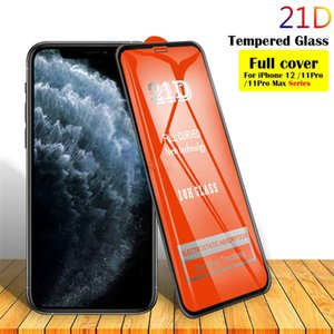 21D Full Cover Tempered Glass Screen Protector film for Iphone 6 7 8 plus X XR 11 12 13 mini Pro Max Samsung huawei