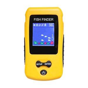 Finder inalámbrico Finder Sounder Fishfinder Sonar para barco Pesca Portátil Pescado Profundidad Sensor #D