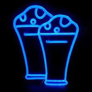 Mavi Cam Işareti Bar KTV Kulübü Bira Duvar Dekorasyon El Yapımı Neon Işık Işareti 12 V Süper Parlak