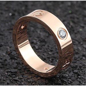 4 5 6mm 316L titanium steel silver love couple ring men and women lady rose gold Finger ring for lovers Wedding Party Engagement gift