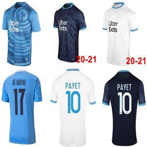 Marseily Soccer Jersey 20 21 om 2021 ميلوت القدم المأكولات Thauvin Benedetto Kamara Payet قميص كرة القدم