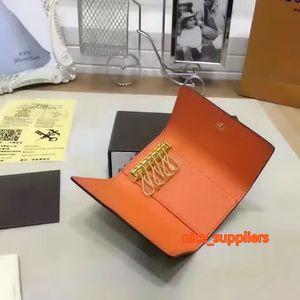 Berühmter Key Pouch Damier Leinwand Hohe Qualität Frauen 6 Schlüsselhalter Münze Geldbörsen Echtes Leder Männer Kartenhalter Brieftaschen Brieftaschen mit Box M62630