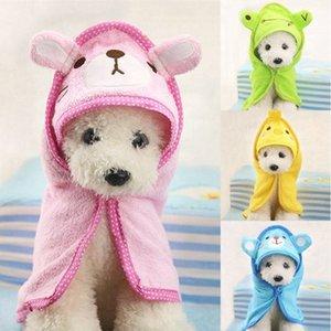 Moda Sevimli Karikatür Küçük Hayvan Pet Yavru Köpekler Kediler Su Emici Banyo Robe Banyo Havlusu