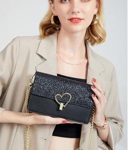 Leather Clutch for Women Evening Bags Fashion Chain Purse Lady Shoulder Bag Handbag Presbyopic Mini Package Messenger Bag Card Holder