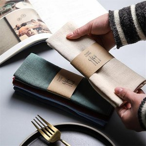 Table Napkin Linen Cloth Polyester For Wedding Party Decorative Solid Cup Dishes Kitchen Plates Tablewar