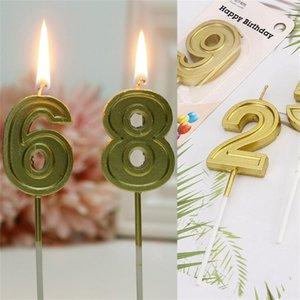 Свечи на день рождения Золотые дети День рождения свечи для торт-вечеринки поставки украшения ремесло кекс свеч для вечеринки для вечеринки