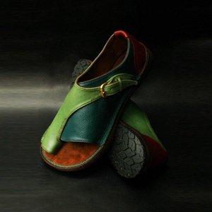 Wigqcy mujeres cómodas zapatos llanos plataforma plana damas casuales de punta grande de punta de pie de punta sandalias ortopedic junion corrector flip flop
