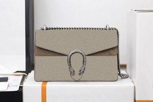 Luxurys Designer Umhängetasche Dionysus Matte Leder Leinwand Klassische Briefkette Crossbody Taschen Tiger Head Coverure 28cm