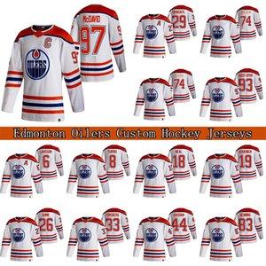 97 Connor McDavid Custom Edmonton Oilers 2021 Retro Retro Jersey 29 Leon Draisaitl 74 LNB Ethan Bear Hockey Jerseys