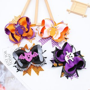 Popular Halloween Party Cartoon Funny Multi Layer Bow Bow Swallow Tail Thillpin Accessori per capelli Wansheng per bambini