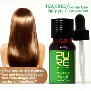 PURC Tea tree and Moroccan hair Oil 10ml hair treatment for dry and damaged moisturizes hair and best for skin care 6pcs
