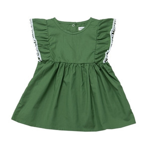 2021 Summer New Girls Dress Sleeveless Baby Lace Tassel Princess Dress Skirt Fashion Green Kids Party Dress H236S3M