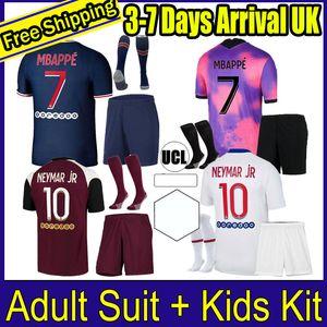 Enfants ICARDI 20 21 MARQUINHOS MBAPPE fourth soccer Jersey 2020 2021 VERRATTI 4TH men kids set KEAN Maillots de football shirt kit uniforms