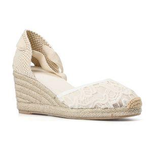 Bayan Espadrilles Takozlar Ayakkabı Sandalet Zarif Dantel Kayışı Tienda Soludos Kadınlar Çiçek Tığ Wrap Slingback Espadrille Wedge 210308