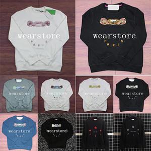 Stickerei Tiger Head Pullover Herren Womens Top Qualität Langarm Oansatz Pullover Hoodies Sweatshirt Jumper Casual Designer Paar Kleidung