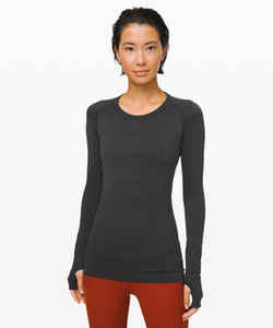 Lulu Standard Long Sleeve T-shirt Running Swiftly Tech Top Sports Yoga Quick Drying Fitness Suit