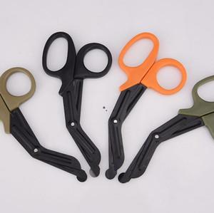 Ciseaux en acier inoxydable de sauvetage en acier inoxydable TRAUMA GAUZE URGENCE First Ciseaux Scissor Extérieur Palourdissement Scissor 18.3 * 9.2 cm SEADHC5907
