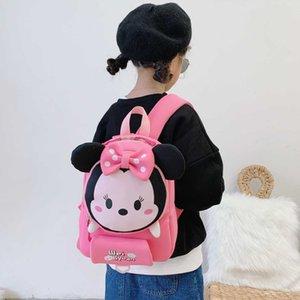 Kindergarten schoolbag crianças de ombros duplos meninos meninos meninos pequenos meninas de classe média grande bebê novo modelo em 2021