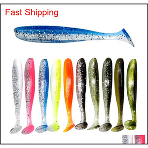 10Pcsbag T Tail Soft Lures Sile Bait 63Cm 16G Carp Bass Pike Jig Sea Baits Fishing Swimbait Wobbler Tackle Pesca Xxqbe Pxnms
