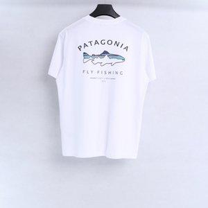 Verão New Patagônia Esportes ao ar livre T-shirt de manga curta