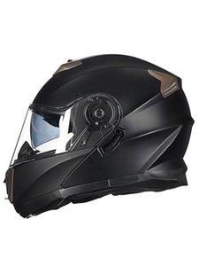 Мотоциклетные шлемы 2021 Новейшая точка Утвержденная Безопасность Модульный Флип Шлем Воилья Гонки Двойной линзы Визуализация Виосри-903