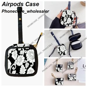 أزياء مصمم airpods حالات لشركة أبل airpod 1 2 برو 3 غطاء حقيبة القضية مع مكافحة الخسارة هوك المشبك Keychain 051520