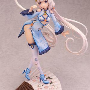 Alphamax Skytube Anime NEKOPARA Chocolat Vanilla Cheongsam Ver. PVC Sexy Girl Action Figure Model Toys Collection Doll Y0726