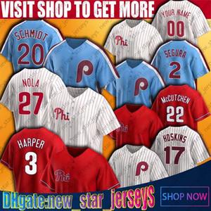 3 Bryce Philadelphia Harper Baseball Mike Schmidt Jersey Aaron Nola Rhys Hoskins J.T. Jerseys RealMuto Pete Rose Tug McGraw Jersey