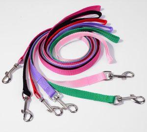 600pcs lot Width 1.5cm Long 120cm Nylon Dog Leashes Pet Puppy Training Straps Black Blue Dogs Lead Rope Belt Leash SN5157