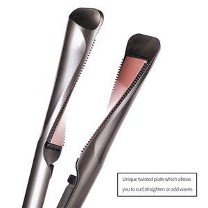 Professional 2 in 1 Hair Curler & Straightener Curling Iron Barber Salon Flat Irons Tourmaline Ceramic Styler Free Shipping
