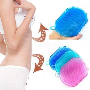 Bath Gloves Exfoliation Shower Bath Brush For Body Cleaning Silicone Exfoliating Brush Scrubber Bath Scrub Glove Spa bathing tool GWC6315