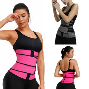 2021 Men Women Shapers Waist Trainer Belt Corset Belly Slimming Shapewear Adjustable Waist Support Body Shapers FY8084