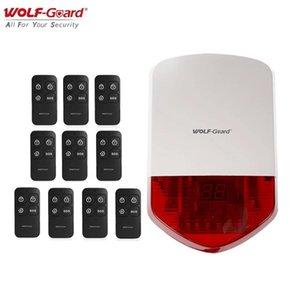 Wolf-Guard wireless Allarme per esterni Sirena 110DB Home Security Alarm System System Kit host con 10 telecomando 433MHz