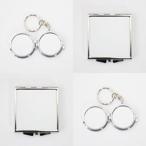 White Sublimation Blank Cosmetic Mirror Women Mini Stainless Steel Fashion Thermal Transfer Printing Metal Make Up Mirrors DIY ZZC7871