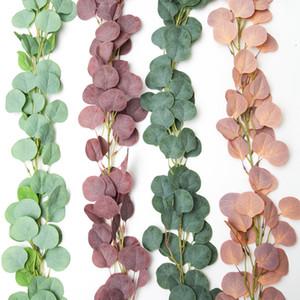 Искусственная гирлянда Eucalyptus 170см 144 листья длинные виноградные венчание фестиваль, висит ротанга домашнего магазина декор