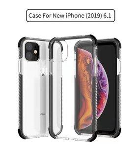 Vendita diretta della fabbrica di alta qualità Soft 2 in 1Transparent + Color TPU Case Case Telefono per iPhone 11 Pro Max, copertura posteriore mobile serie IP11