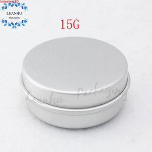 15g Aluminum Empty Cosmetic Container With Lids 15ML Small Round Lip Balm Tin Solid Perfume Packaging Jar Sample Bottlehigh quatiy