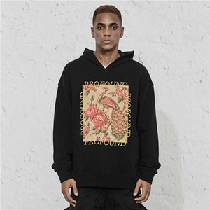 Islander Mode Boutique Profund Palace Style Style Flower Sweat of Pull Pull Down Sweat à capuche en vrac Hip Hop Tendance