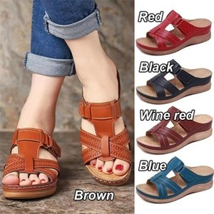 summer women casual solid sandals fashion korean trend platform laides slippers designer female beach wedge shoes for woman 2020 Q0224
