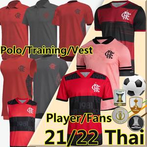 Flamengo  рубашка 2021 2022 Camisa Flamengo футбол для футбола Rosa Gabriel B.henrique de arraScaeta футбольная футболка diego e.ribeiro Gerson Men Women Kids Kits футболка