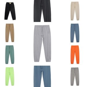 Осень и зима Kanye мужские брюки западные длинные повседневные теплые мужчины чистые хлопчатобумажные прямые брюки уличные открытый отдых спортивный сплошной цвет
