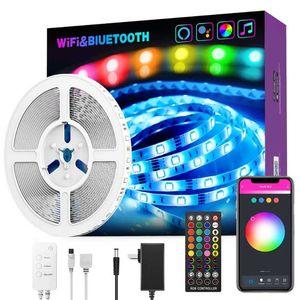5M LED Strip Lights WiFi Controlled Music Light Light Bar Strisce intelligenti LUCI MULTIPL METODI DI CONTROLLO MULTIPELLO CAMBIO CAMBIO LED Strip Light