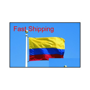 Republic Of Colombia Flag Banner 3X5Ft Colombian Columbia Columbian South America Polyester Fans Cheering Flags 90X150Cm Pyrpg 2Wrya
