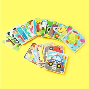 24 styles 16 pieces wooden puzzle animal cartoon flat wooden puzzle toy factory wholesale custom children puzzle
