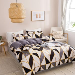 Bedding Sets Fashion Set Geometric Style Soft Comforter Duvet Cover Bedspreads For Bed Linen Comefortable Quilt With Pillowcase