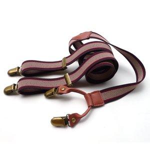 Fashion Red Line Bretels Elasticizzato con clip di metallo Adulti Adulto Vestito Fancy Accessorio Unisex Pantalone regolabile Regolabile Breteggi Y-back Sospendes Clip in metallo