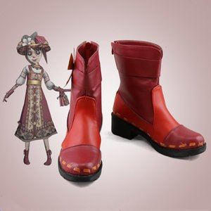 Hot I.d. V. Cosplay Costumes Shoes on Wood Gardener Fashion Female Anime Ankle Boots E03l