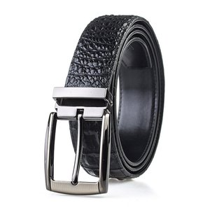 Men's Belt Cow Genuine Leather Pin Buckle Leather Belt High Quality New Fashion Luxury Strap Male Belts